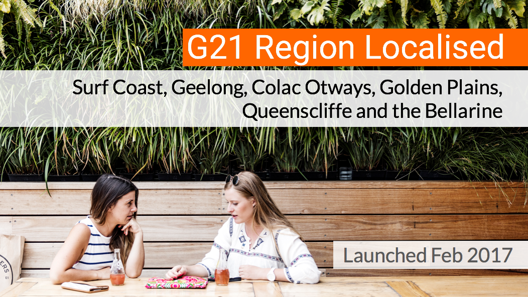 Surf Coast, Geelong, Colac Otways, Golden Plains, Queenscliffe and the Bellarine